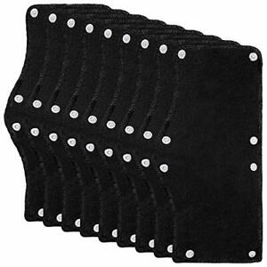 9 Pack Black Hard Hat Sweatband Cotton Terry Sweatband With Liner Snap Washable