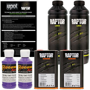 U Pol Raptor Tintable Bright Purple Spray On Truck Bed Liner Coating 2 Liters