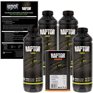 U Pol Raptor Tintable Spray On Truck Bed Liner Coating 4 Liters