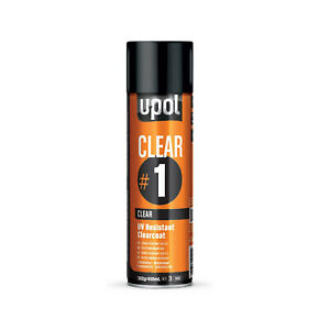 U Pol Clear 1 High Gloss Clearcoat Spray Can Auto Paint