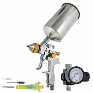 Pro 1 3mm Hvlp Gravity Feed Spray Gun W Regulator Auto Paint Basecoat Clearcoat