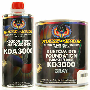 House Of Kolor Gallon Kit Gray Color Kd3000 Dts Surfacer Sealer W Hardener