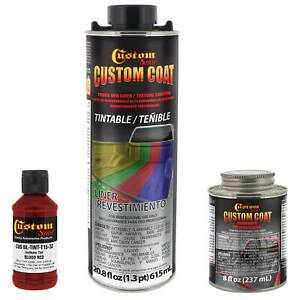 Custom Coat Blood Red 1 Quart Urethane Spray On Truck Bed Liner Kit Easy Mixing