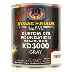 1 Quart Gray Color Kd3000 House Of Kolor Dts Auto Surfacer Sealer Epoxy Primer