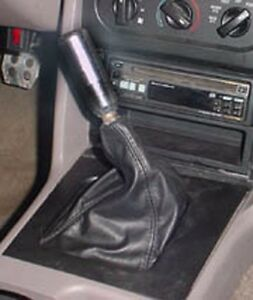 New Black Custom Made To Fit 87 93 Mustang Leather Shift Shifter Boot New