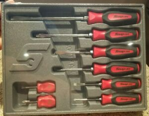 New Snap On 8 Piece Soft Grip Combination Screwdriver Set Sgdx80br