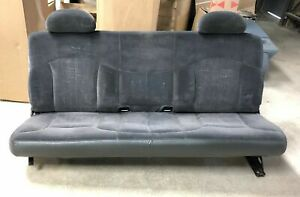 99 06 Chevy Silverado Gmc Sierra Extended Cab Gray Cloth Rear Bench Seat