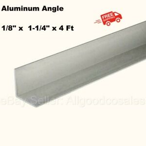 Aluminum Angle 1 8 X 1 1 4 X 4 Ft Length Unpolished Alloy 6061 90 Stock