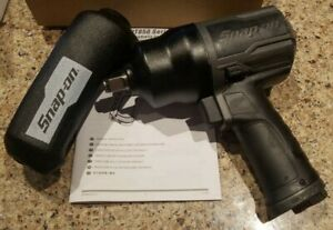 New Snap On 1 2 Drive Air Impact Wrench Pt850 Rare Gun Metal W boot