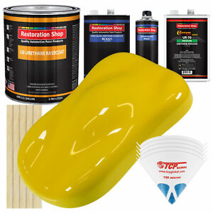 Electric Yellow Gallon Urethane Basecoat Clearcoat Car Auto Body Paint Kit