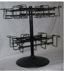 Store Display Fixture New 2 Level Counter Top Spinner Cd Dvd Display Rack