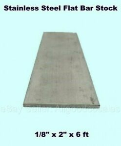 Stainless Steel Flat Bar Stock 1 8 X 2 X 6 Ft Rectangular 304 Mill Finish