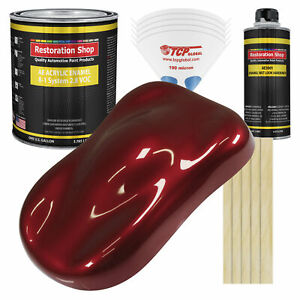Restoration Shop Fire Red Pearl Acrylic Enamel Gallon Kit Auto Paint