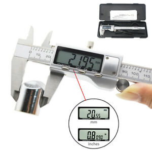 6 150mm Electronic Digital Vernier Caliper Stainless Steel Micrometer Guage Lcd