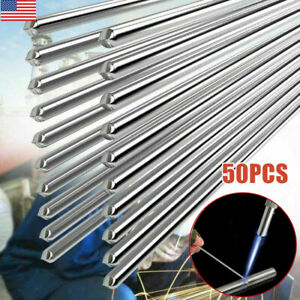 50pcs Solution Welding Flux cored Rods Aluminum Wire Brazing 2mm 500mm Premium