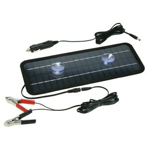 4 5w 12v Portable Solar Panel Battery Charger For Boat Car Trailer Rv Truck Lo