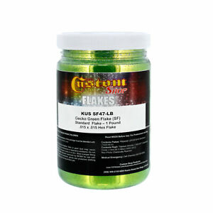 1lb Gecko Green 015 Standard Metal Flake Auto Paint Custom Shop Hok Dupont