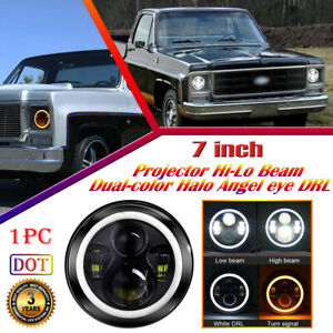 Dot Projector Led Headlight With Halo Drl For Chevrolet C10 C20 Pickup K10 K20