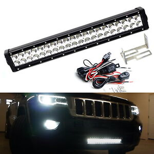 Lower Grille Mount 20 Inch Led Light Bar Kit For 2011 2020 Jeep Grand Cherokee