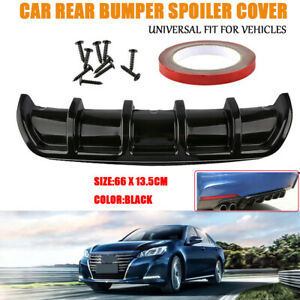 Universal Black Car Rear Bumper Body Kit Shark Chin Spoiler Diffuser Trim Cover