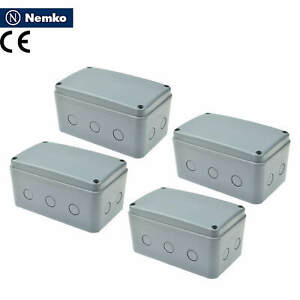 4x Waterproof Junction Box Cable Connector Enclosure Case Ip66 181x111x100mm Abs