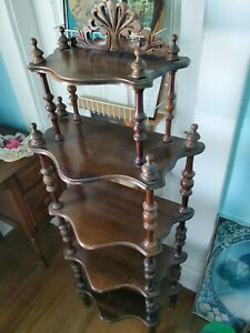 Antique Curio 5 Bookshelf Beautiful Condition