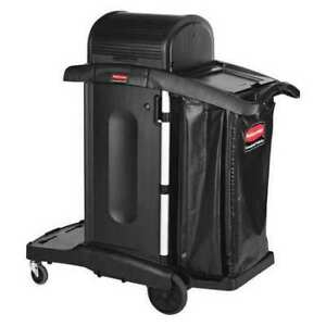 Rubbermaid Commercial Products 1861427 Janitor Cart rubber Caster 3 Shelves