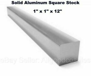 Square Stock 6061 Aluminum Alloy 1 X 1 X 12 Solid Square 1 Ft Long Bar