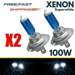 2pcs 100w White H7 Xenon Gas Halogen Headlight Lights Lamp Bulbs 12v 6000k Hot