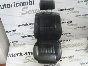 0102921060 Seat Front Left Driver Electric Black Leather Alfa Romeo