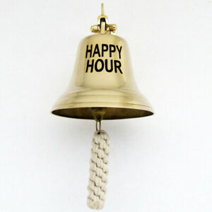 Vintage Ships Marine Nautical Ship Ship S Solid Brass Happy Hour Tiki Bar Bell