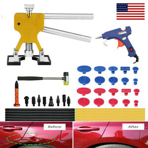 Paintless Car Hail Damage Dent Remover Repair Kit 47pcs Dent Puller Tools