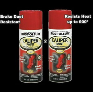 Caliper Paint 2 12 Oz Spray Cans Gloss Red Stop Rust Formula Rotors Drums