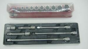 Snap On Tools 211yfssy206 3 8 Drive Sockets Sae 1 4 7 8 Wobble Extension Set