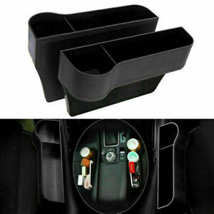 1pair Car Seat Gap Catcher Filler Storage Box Organizer Pocket Phone Cup Holder