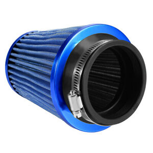 2 Layers 76mm 3inch Car High Flow Cold Air Filter Intake Induction Kit Mesh Cone