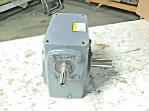 Boston Gear 726 5 j Right Angle Worm Gear Speed Reducer Solid Shaft