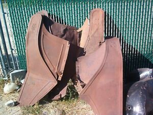 Five 1914 1913 1912 1911 Ford Model T Front Fenders Yard Art Ready Very Rough