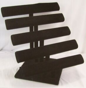 Store Display Fixtures Five Bar Necklace bracelet Jewelry Display Black Velvet