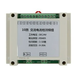 Ac Current Transmitter Rs485 Acquisition Module 10 Channel Current Detection