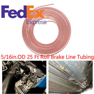 1psc 5 16 Copper Nickel 25 Ft Brake Fuel And Trans Line Tubing Cupro Nickel Us