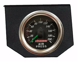 Air Bag Suspension Dual Needle Air Gauge Single Panel Display 200 Psi No Switch