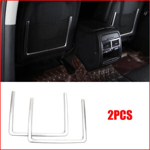 For Volkswagen Touareg 2011 2018 Silver Rear Seat Back Storage Frame Cover Trim