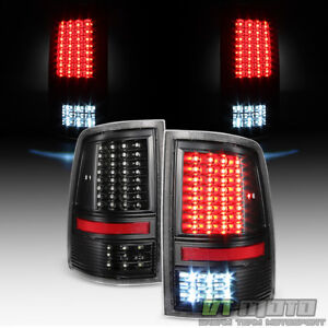 For 2009 2018 Dodge Ram 1500 10 2500 3500 Black Full Led Tail Lights Brake