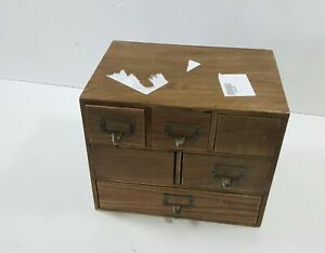 Kate And Laurel Apothecary Wood Desk Drawer Set Rustic Brown