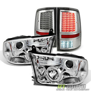 Coolest 2009 2018 Ram 1500 2500 Halo Projector Headlights Full Led Tail Lights
