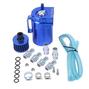 High Quality Blue Cylinder Aluminum Engine Oil Catch Reservoir Breather Tank Can