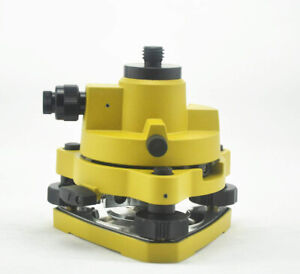 Yellow Tribrach Adapter With Optical Plummet With 5 8x11 Thread