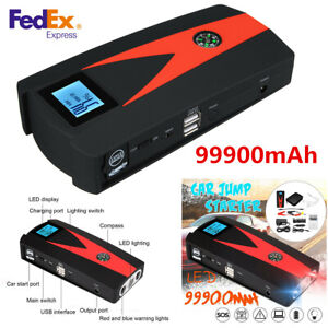 Portable Car Emergency Battery Booster Jump Starter Charger Power Bank 99900mah