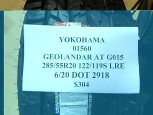 1 New Yokohama Geolander At G015 285 55 20 122 119s Lre Tire 01560